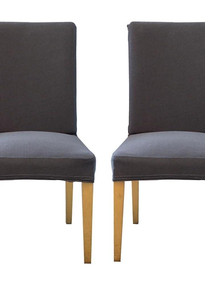 Packung Mit 2 Spandex Stretch Esszimmerstuhl Sitzbezüge Elastische  Abnehmbare Waschbar Zeremonie Stuhl Slipcovers Protektoren   Schwarz