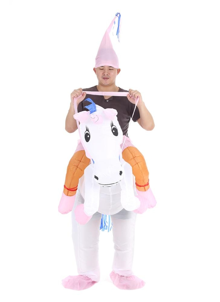 cute adult inflatable unicorn costume suit blow up fancy dress party halloween inflatable pegasus outfit jumpsuit sc 1 st chicuucom
