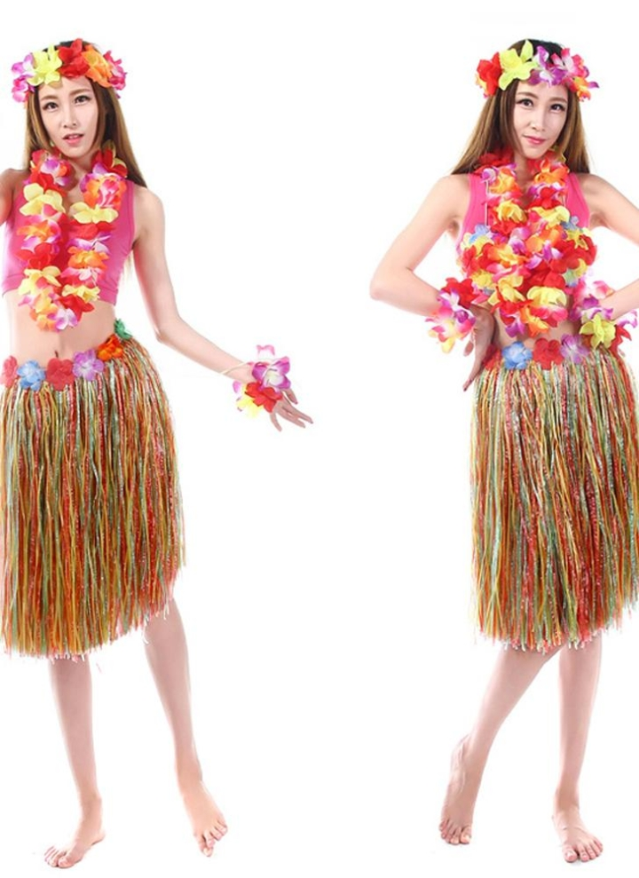 00466845964 Anself New Handmade Hawaiian Costumes 24