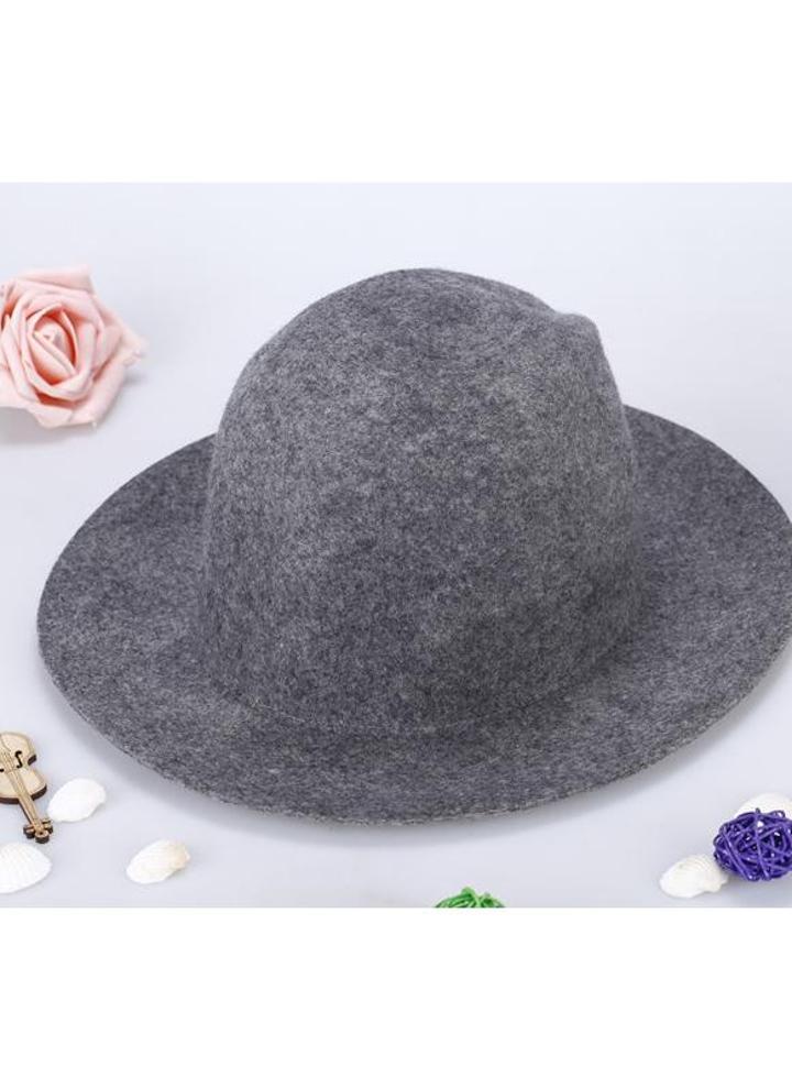Moda Unisex lana Fedora cappello Trilby tappo corona tesa larga Bowler  Derby Headwear secchiello floscio cappello 82d9984ee379