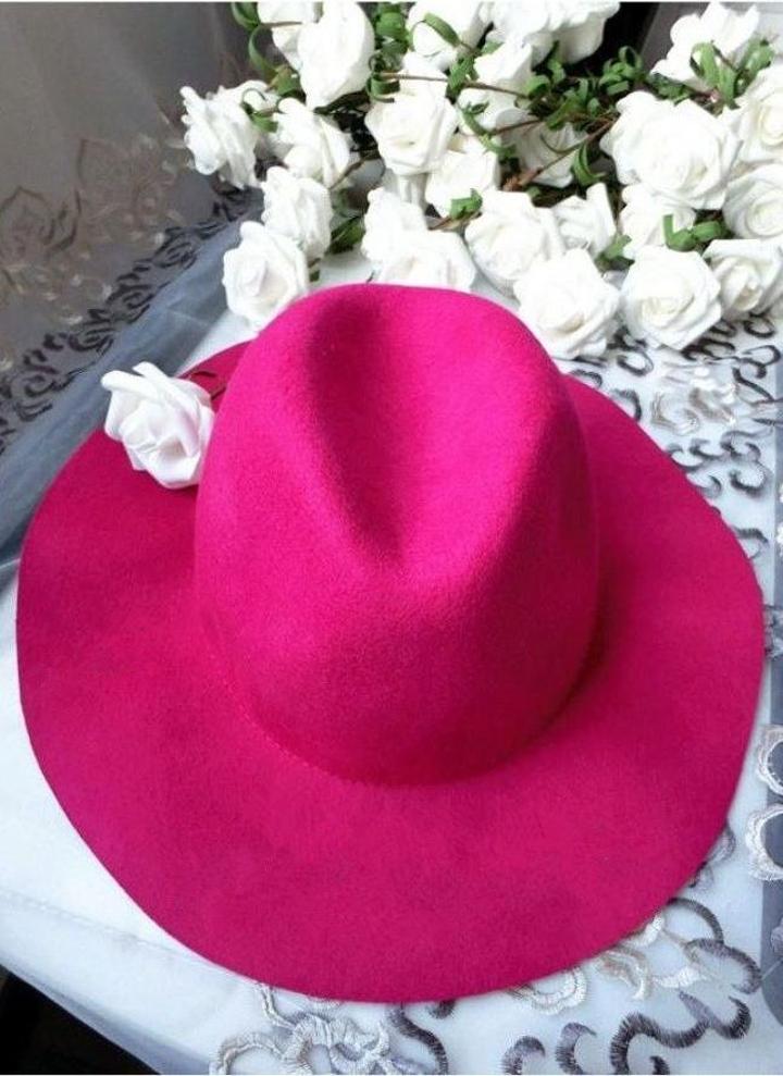 6c27f1355b9 Unisex Wool Fedora Trilby Crown Cap Wide Brim Bowler Headwear