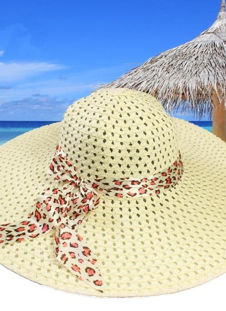 Las mujeres de moda el sol sombrero sombrero de paja ancho gran playa de  verano ala aadd8e2376b