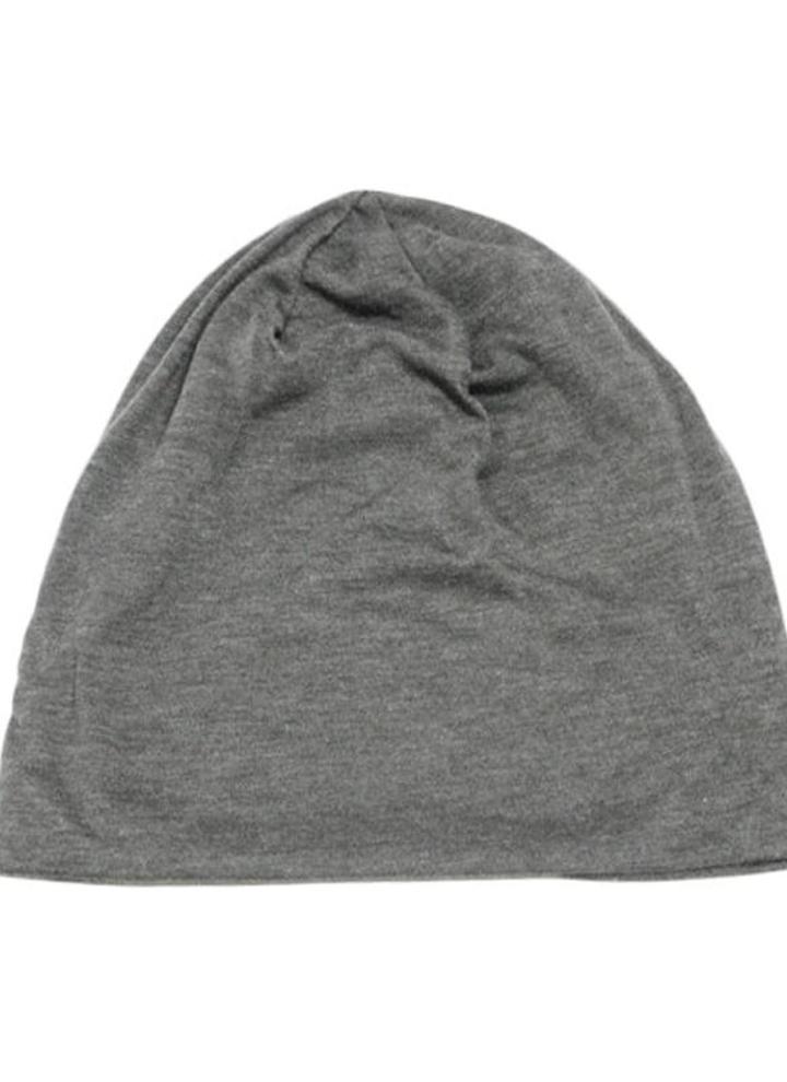 Nova moda homens mulheres gorro cor sólida hip-hop desleixo Unisex malha Cap  chapéu cinza 48160a708ff