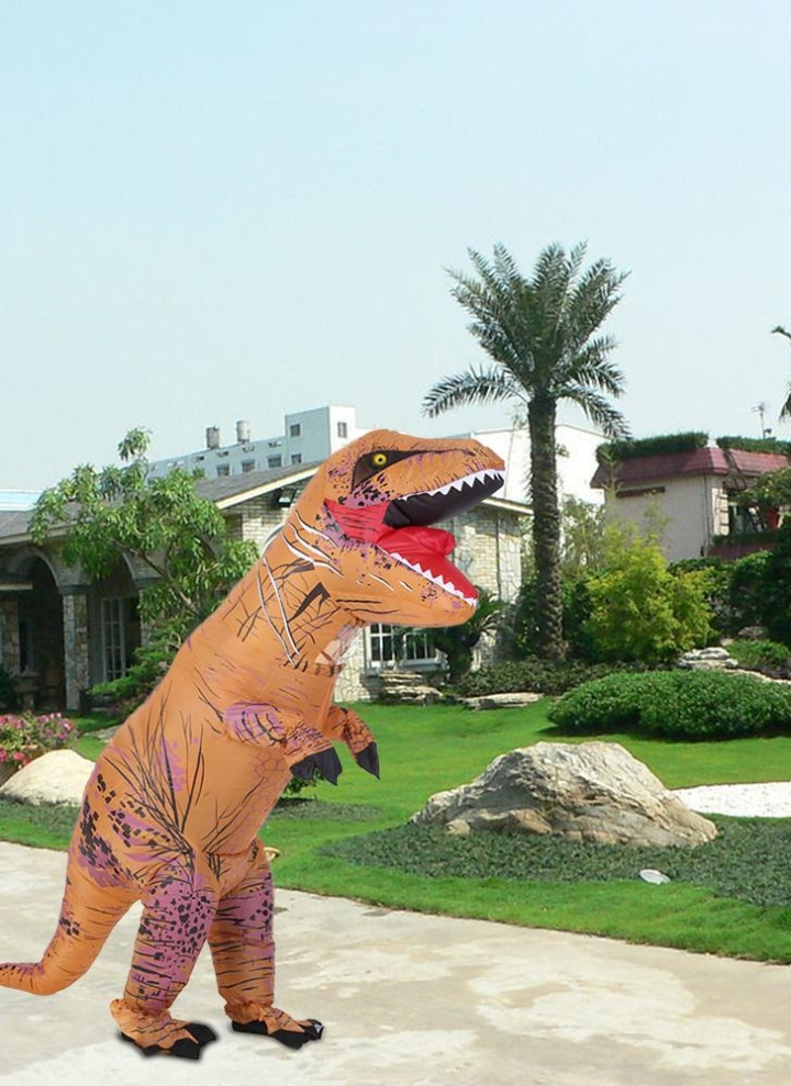Funny Kids Inflatable Dinosaur Trex Costume Suit Air Fan Operated Blow Up  Halloween Cosplay Fancy Dress 228facdf0bc8