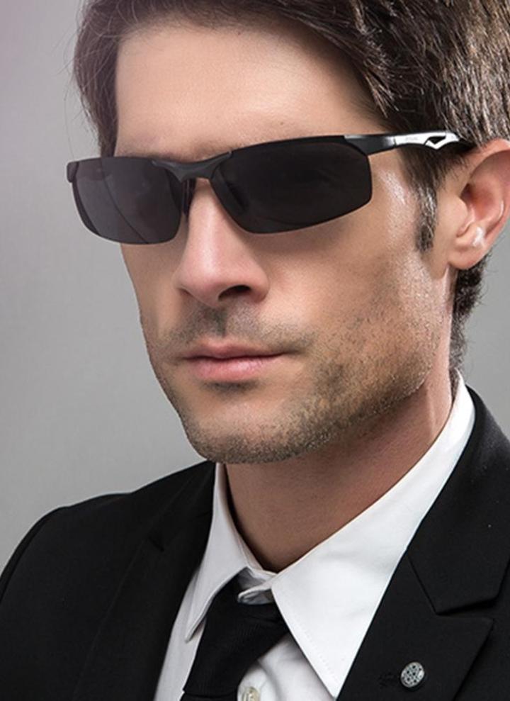 29624f555a892 JOGAL Óculos de sol retro de homem de moda polarizado UV400 de moda
