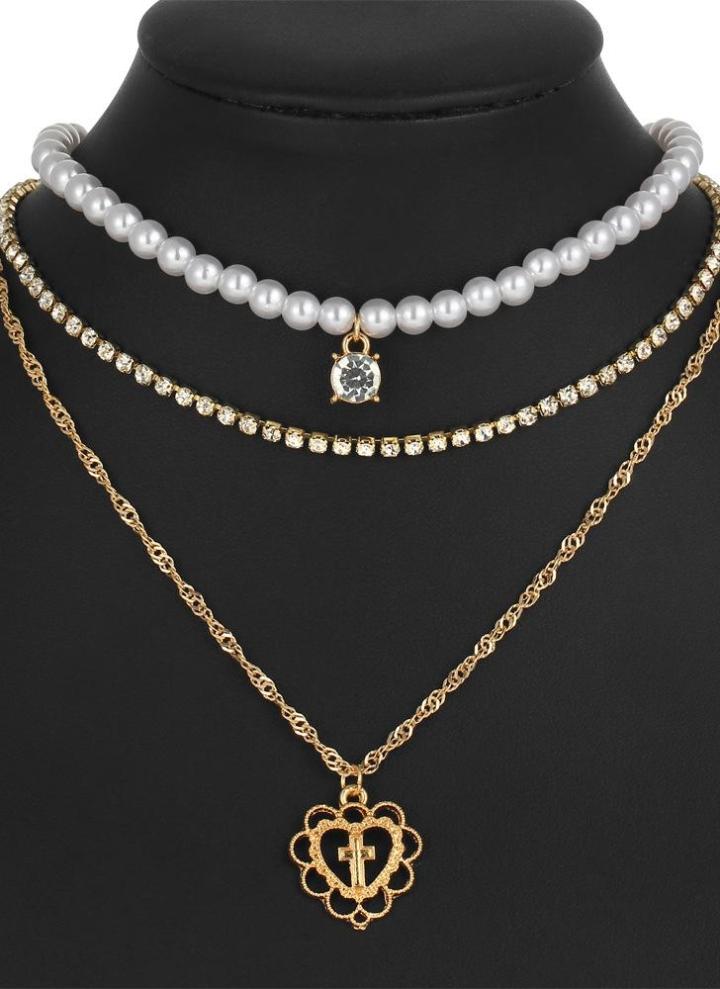 Lumineux Rétro Collier Pendentif 18K Plaqué or en gros bijoux fashion Alliage