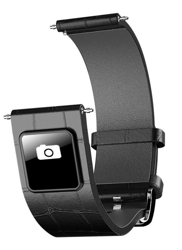 Banda de reloj de cuero genuino con pantalla táctil BT Wristband de prueba  de agua a 24d91a67fed