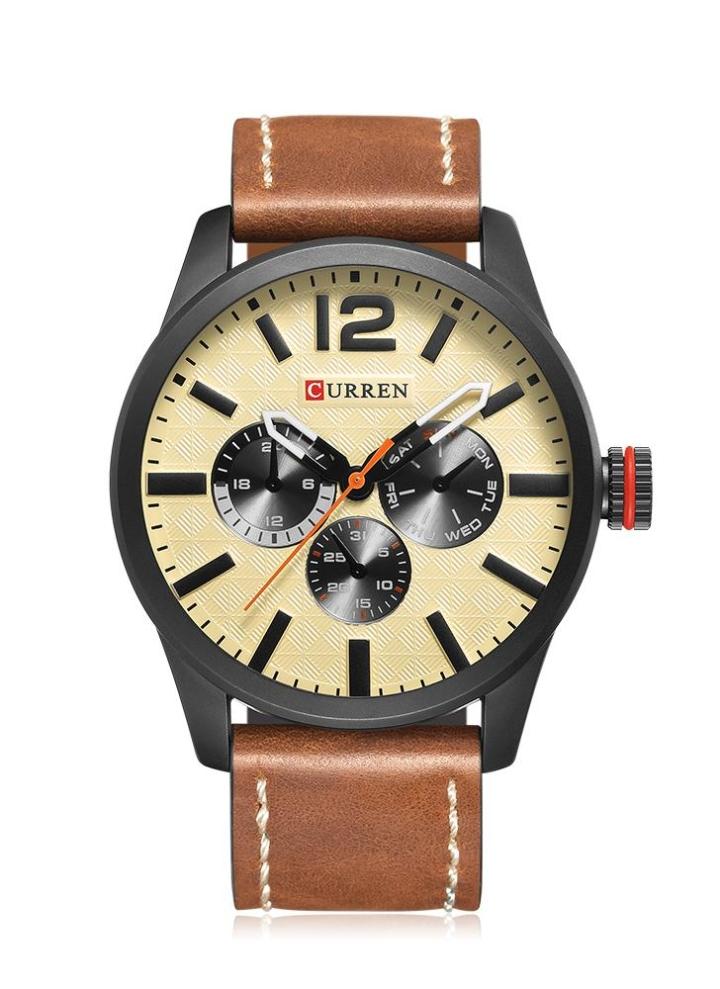 bbbdf42f86e CURREN 2017 estilo esportivo de luxo impermeável relógio de quartzo homens