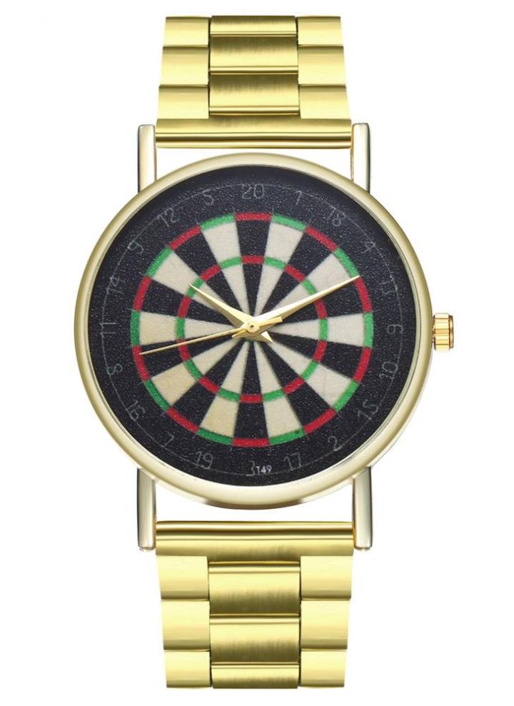 0585d827265 Pulseiras de luxo Moda Feminina Homens Relógio Simples de Ouro Pulseira de  Aço Inoxidável Pulseira de