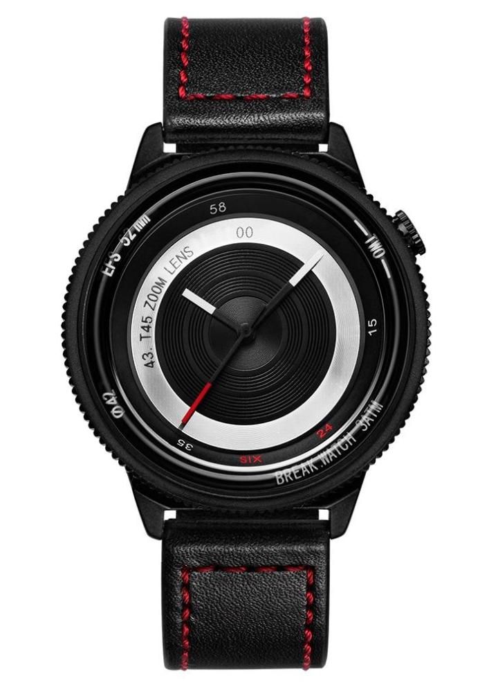 5bebb86bab2d Rompe la marca de lujo único de acero inoxidable de cuarzo cámara estilo  hombres relojes