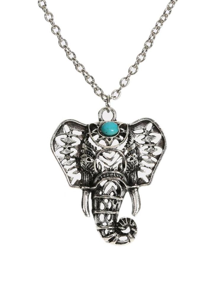 Femmes éléphant lune fleurs collier pendentif tour de cou multi-couche Bijoux Boho US