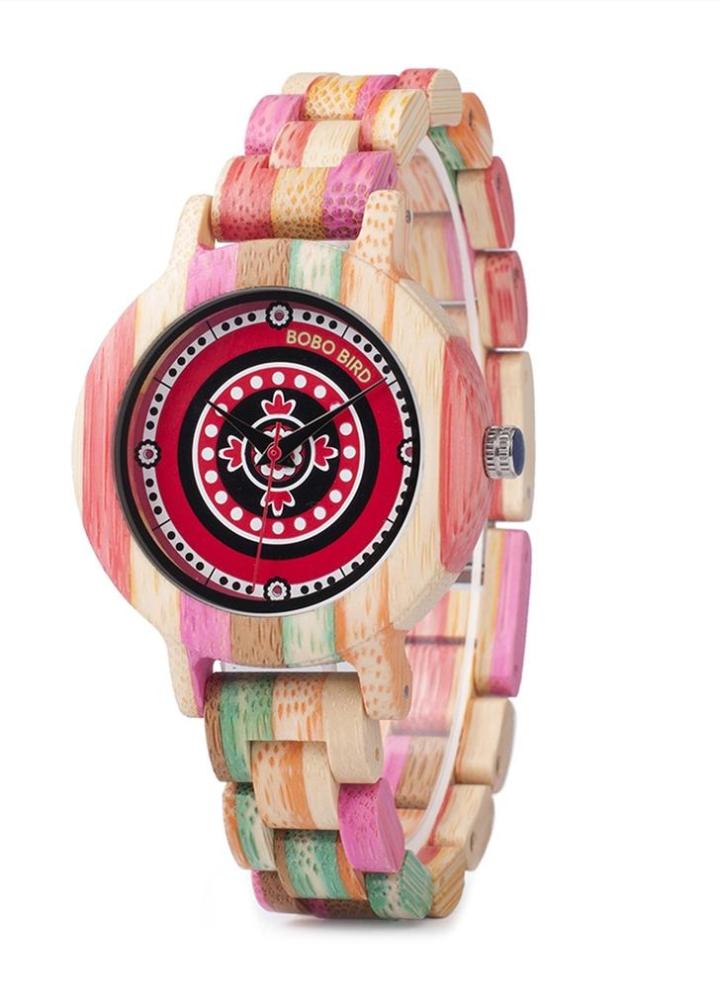 fcaf5d77079 Bobo bird moda relógios de madeira de bambu para as mulheres de quartzo  senhoras de madeira