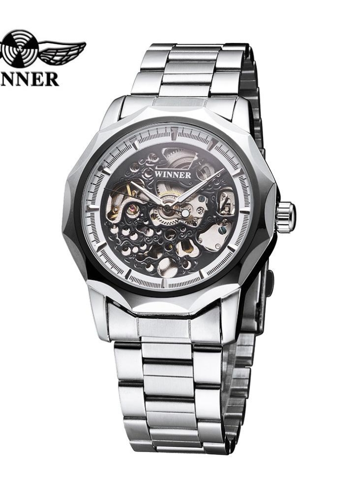 cd7768ed2 WINNER Luxury Shining Gold Skeleton Automatic Mechanical Watch