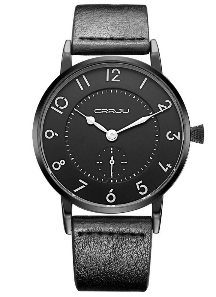 Uhren Quarz-uhren Crrju Einfache Design Mesh Band Dünne Mann Uhr Mode-stilvollen Luxus Edelstahl Männlichen Quarz Armbanduhren Relogio Masculino