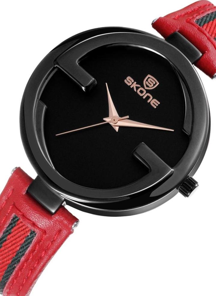 e8b37e39daf SKONE Fashion Quartz Genuine Leather Women Watch 3ATM Relógio de pulso  casual resistente à água Mulher
