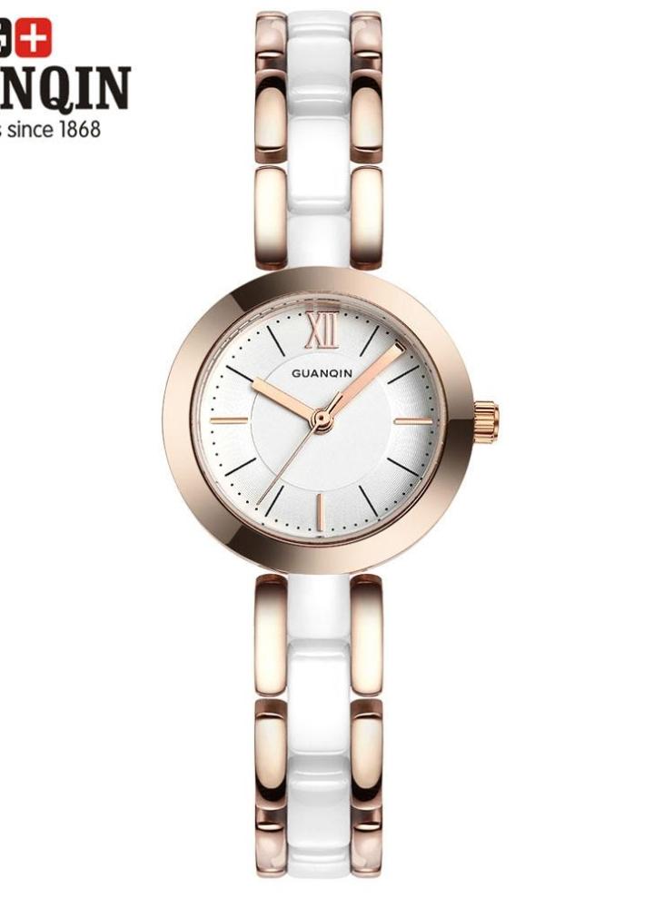 d4a04e2a8a6 GUANQIN luxo marca moda mulheres cerâmica quartzo relógio elegante senhora  impermeável feminino pulseira relógio Casual