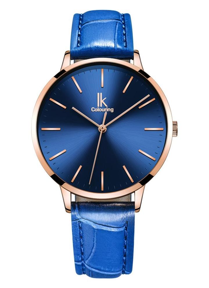 2f335a9c6a8 IK Coloring Moda Mulher Relógios Quartz 1ATM impermeável Casual Woman  Relógio de pulso Relogio Feminino