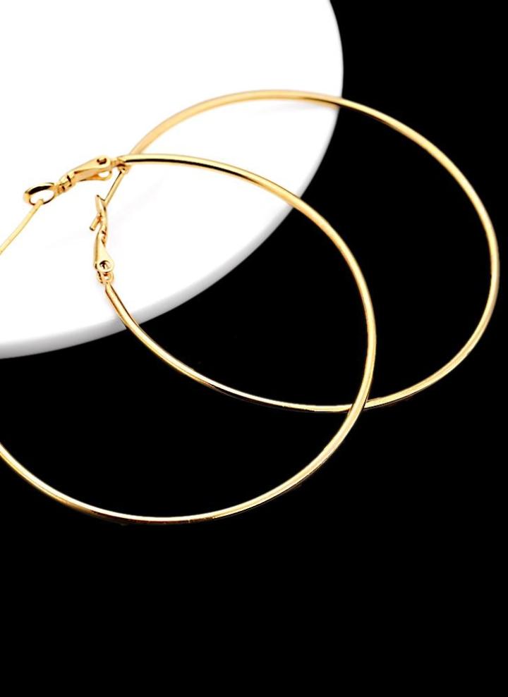 vendita calda online 02b3b b7fc6 18K orecchini cerchio rotondo grande grande placcato oro Fine sottile  gioielli regalo per donne ragazza signora