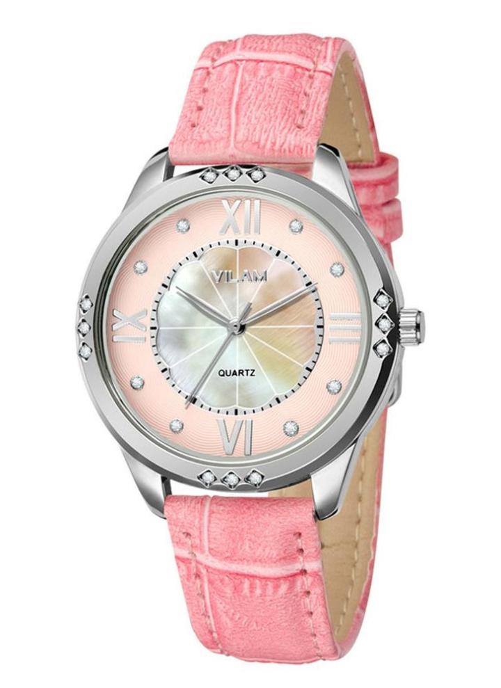 fc098ebbab Vilam Art und Weise kühle stilvolle Marke Frauen Frau Quarz-Uhr 3 ATM  wasserdicht PU-Lederband Fashion-Armbanduhr