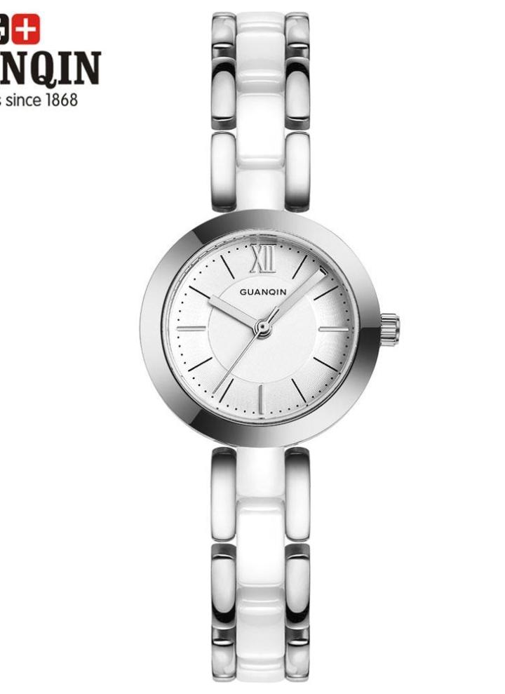 ce5d2604be77b GUANQIN lusso Brand moda donna quarzo ceramica orologio elegante signora  impermeabile donna Bracciale Casual orologio