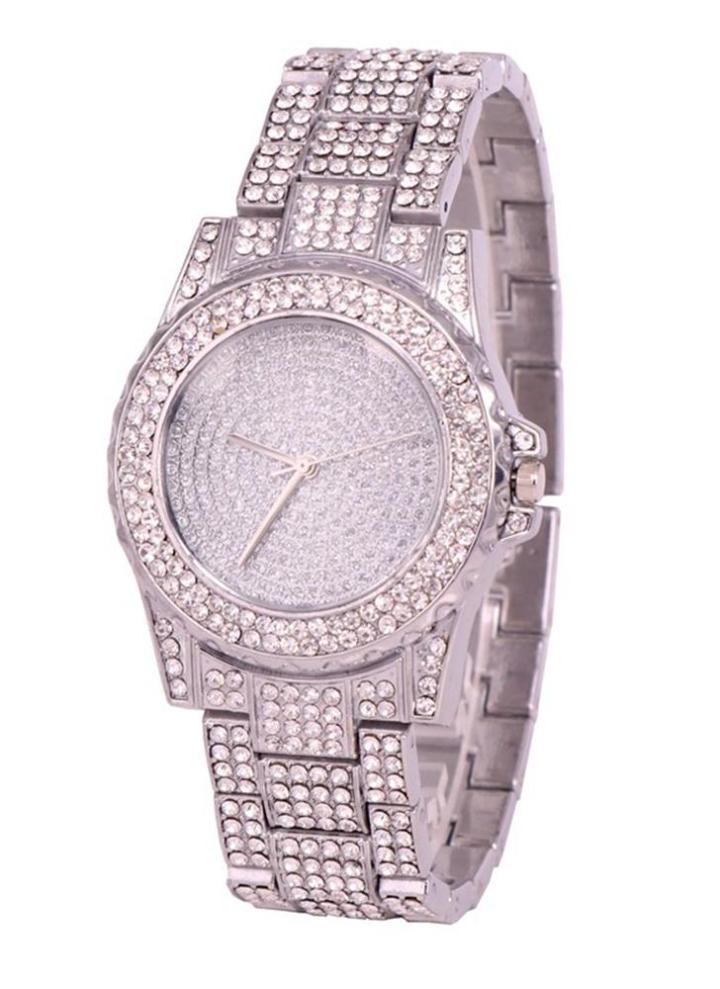 9ba85942d00 Relógios de pulso de luxo de luxo de aço inoxidável Relógio de pulso de  quartzo Casual