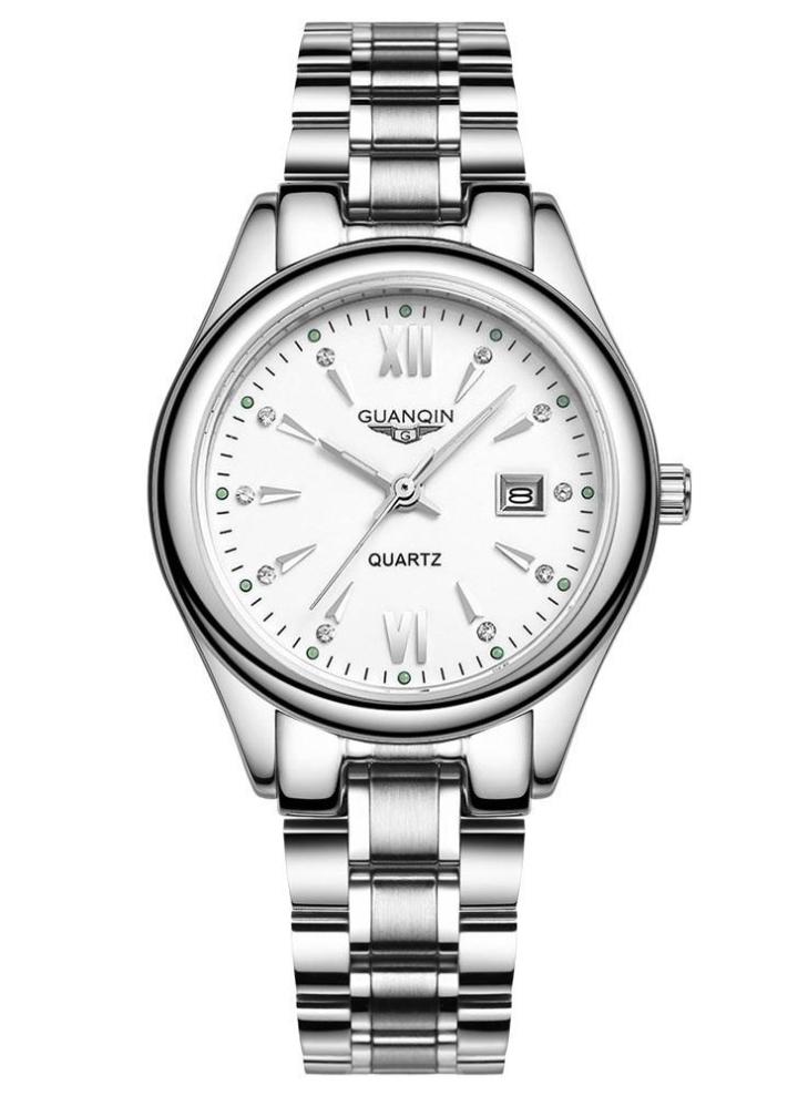 35fbce19f766 GUANQIN 2016 Fashion Damen Luxus Quarz Uhren Stahlband wasserdichte  leuchtende ultradünne Armbanduhr für Lady