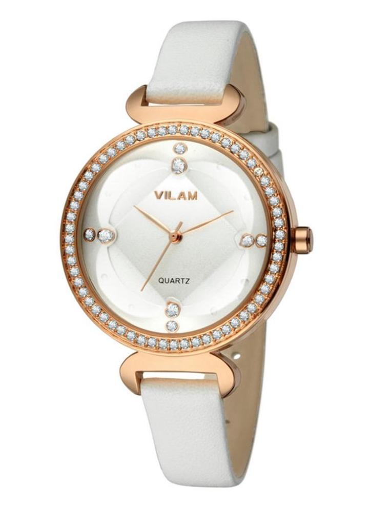 169bb38b85b Vilam forma fresca à moda Marca Mulheres Feminino Quartz strass Cristal  Assista 3 ATM resistente à
