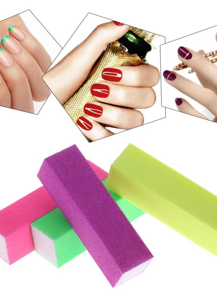 10pcs limas de uñas Nail Art Juego de herramientas de pulido ...