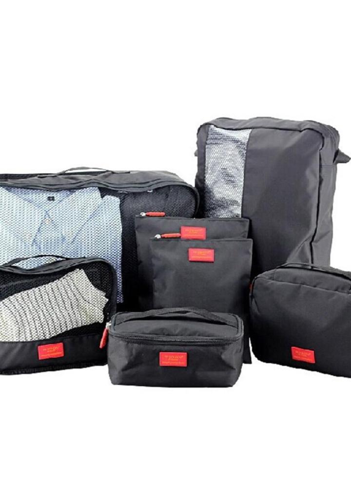 fe62811b67 7PCS Set Multi-fonction Travel Storage Bag Waterproof Clothing Sorting Bags  Portable Luggage Partition
