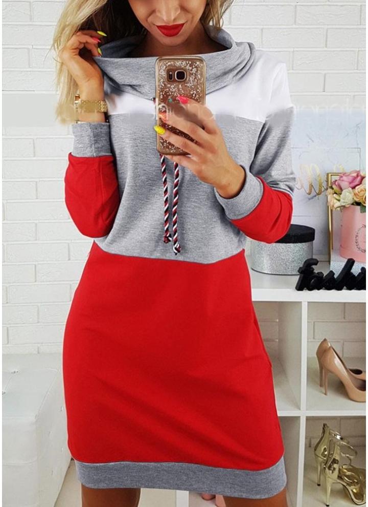 276596d92ba Nouveau Mode Femmes Pulls Molletonnés auto-cravate Pull à Manches Longues à  Capuchon Moyen-