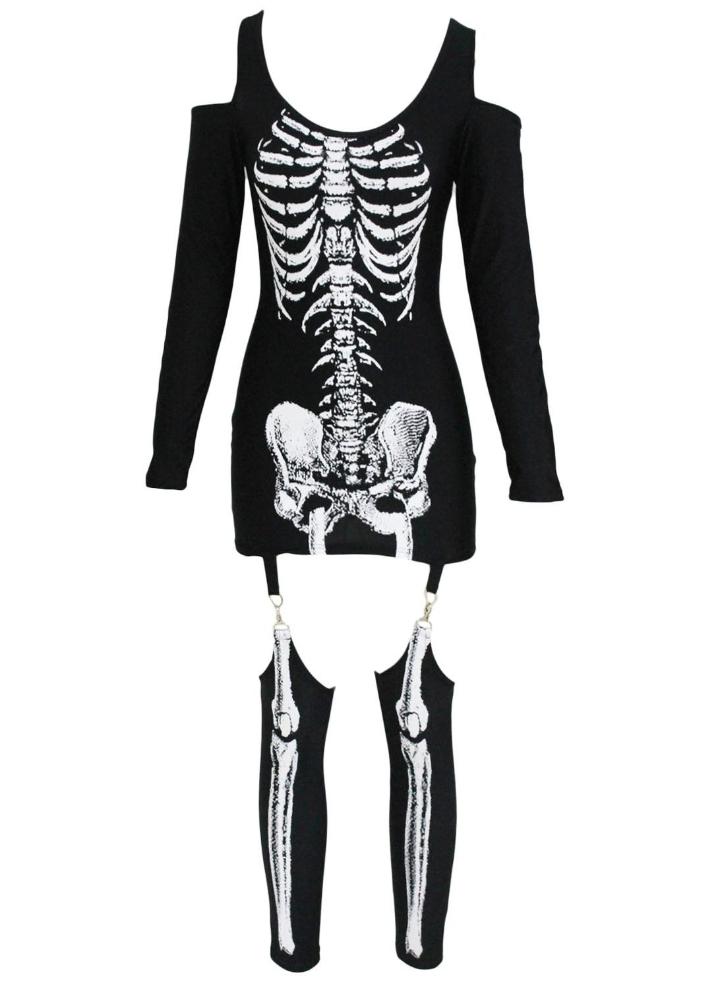 Radiographié Halloween épaule Off-Costume Squelette cdfde8619b3