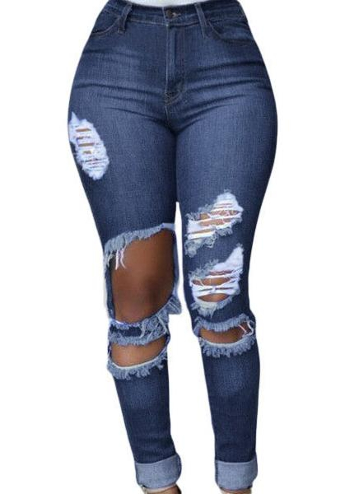 Sexy Cut Off Blue Wash Destroyed Denim Jeans f63d8ba57e6