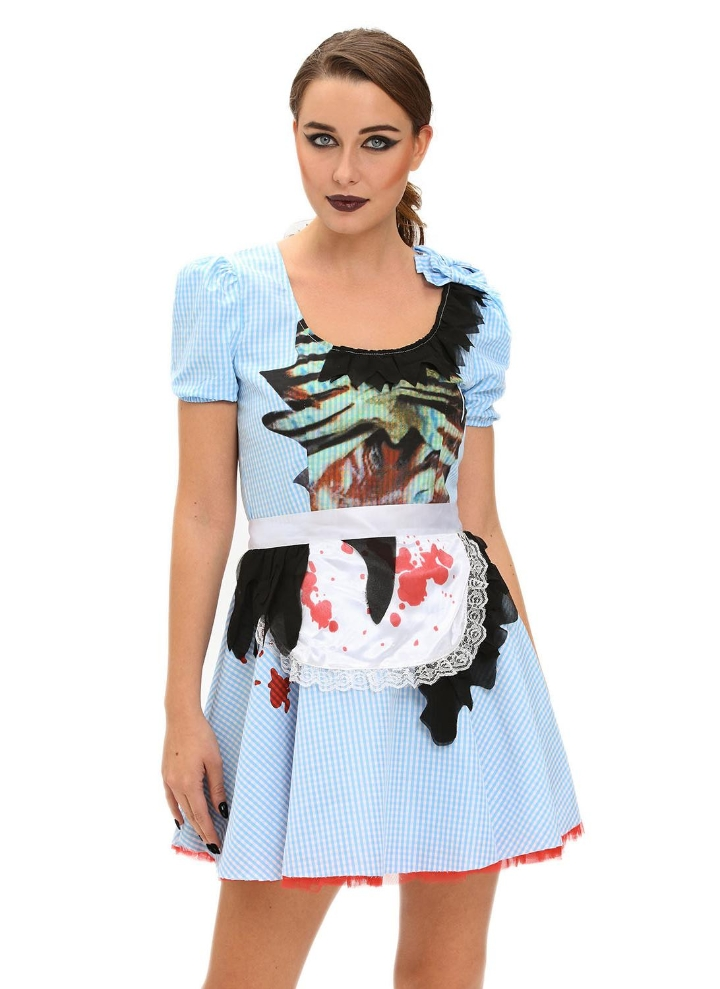 4ed8f3bed6ffb Zombie Kansas Girl Adult Halloween Costume