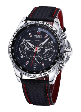 MEGIR Luxury Casual Sports Brand Quartz Waterproof Clock Men's Wristwatch