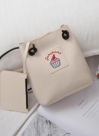 Mädchen Soft PU Leder niedlich Print Crossbody Taschen