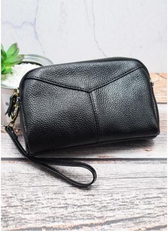 Moda Mulher Embreagem De Carteira De Couro Embalagem De Grande Capacidade Multi-Zipper Lady Handbag Wristlet