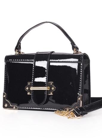 Bolso de hombro de la PU Bolso cruzado de la correa de la cadena del bolso de la aleta Bolso de mensajero casual mini bolso de la bolsa de mensajero