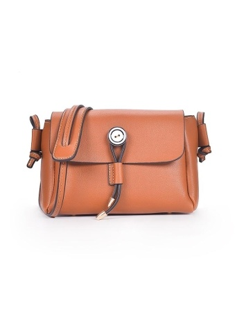 PU Leather Crossbody Bag Flap Front Button Casual Mini Shoulder Bag Messenger Bag
