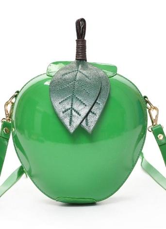 Sac de bandoulière en cuir d'unité centrale de forme d'Apple