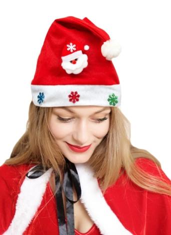 Chapéu do boneco de neve da rena do Natal do elogio