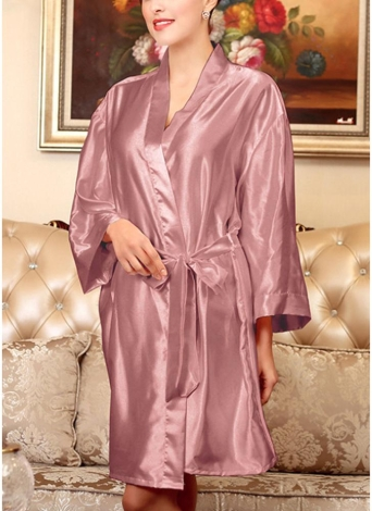 Платье халата для халата с длинным рукавом для женщин