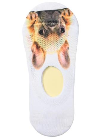 Nouvelles femmes Chaussettes Casual Mignon Animal Print Low Cut respirante No-Show Liner Non-Slip Chaussettes