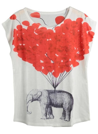 Casual Special Print Loose T-shirt