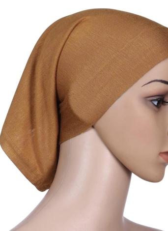 Solid Color Muslim Hijab Islamic Turban Inner Cap