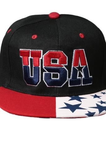 USA Letter Embroidery Sports Hip Hop Baseball Cap