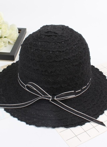 Summer Fashion Women Straw Floppy Hat Wide Brim Bowknot Plegable Sun Beach casquillo ocasional del día de fiesta