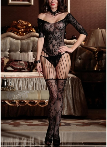 Lencería Body Mediaing Mesh Hollow Out Cutout Erotic Body