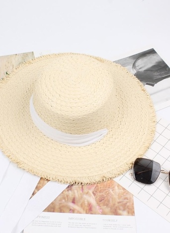 Summer Fashion Women Straw Floppy Hat Wide Brim Bandage Foldable Sun Beach Holiday Casual Cap