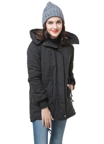 Jacke Damen Schwarz Parka Hoodie Xxl Fleece Warme Winter VzpSqUM
