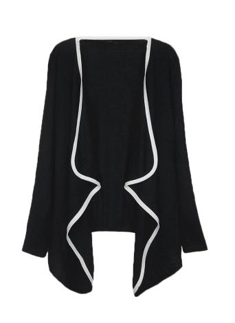 Новые моды женщин асимметричные пуховики контраст пальто длинные мыса кардиган топы